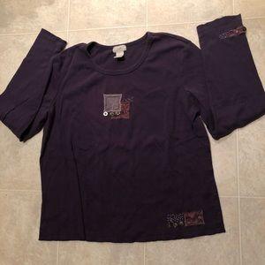 J. Jill long sleeve cotton shirt